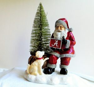 Alabama Crimson Tide Santa with LED Tree