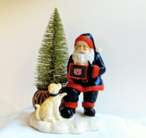 Auburn Tigers Santa with LED Tree