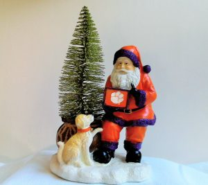 Clemson Tigers Santa with LED Tree