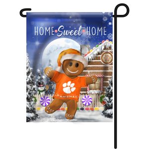 Clemson Tigers Gingerbread Garden Flag
