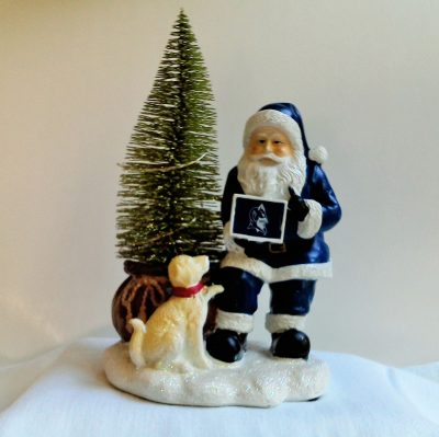 Duke Blue Devils Santa with LED Tree