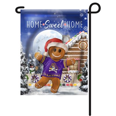 East Carolina Pirates Gingerbread Garden Flag