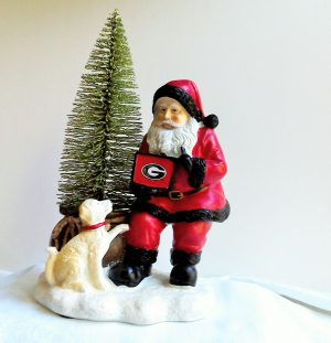 Georgia Bulldogs Santa with LED Tree