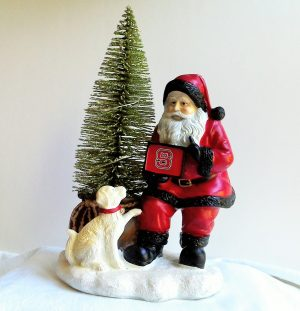 NC State Wolfpack Santa with LED Tree