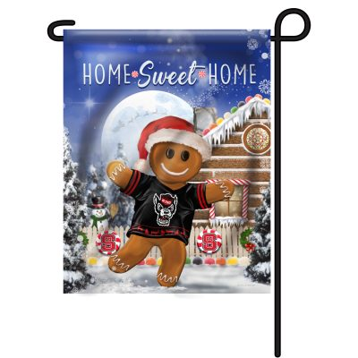 NC State Wolfpack Gingerbread Garden Flag