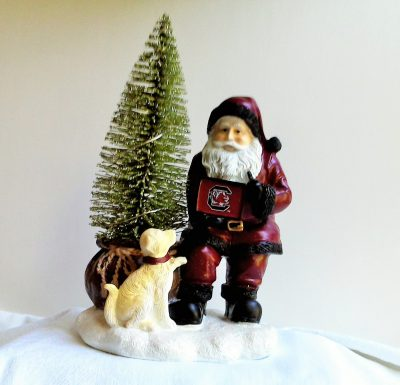 South Carolina Gamecocks Santa with LED Tree