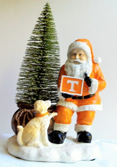 Tennessee Volunteers Santa with LED Tree