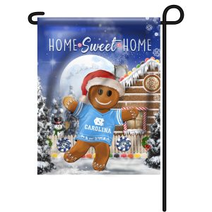 North Carolina Tar Heels Gingerbread Garden Flag